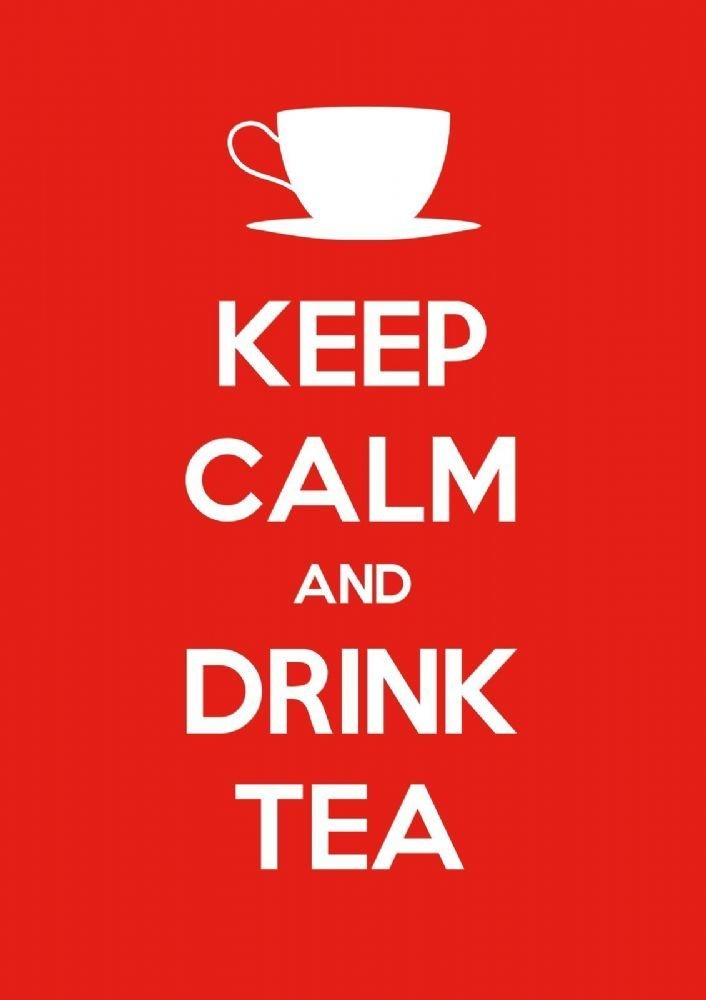 Best Keep Calm Drink Tea Choose Your Size Stretched Canvas Or Print New With Pictures